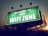 Free WiFi  Zone - Billboard on the Sunrise.