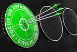 Focus on Details Slogan - Green Target.