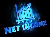 Net Income Concept on Dark Digital Background.