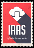 IAAS Concept on Red in Flat Design.
