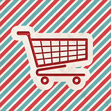 Shopping Concept on Striped Background.