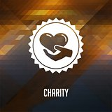 Charity Concept on Triangle Background.