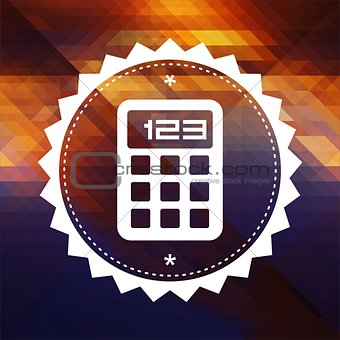 Calculator Icon on Triangle Background.