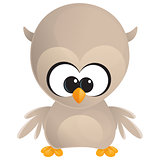 Cute cartoon baby owl