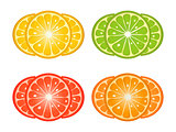Citrus fruit slices
