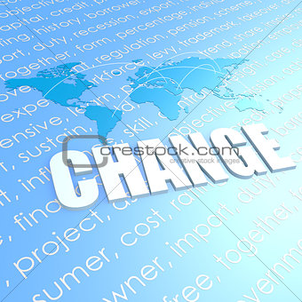 Change world map