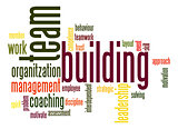 Team building word cloud