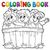 Coloring book children theme 1