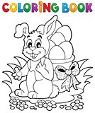 Coloring book Easter bunny 1