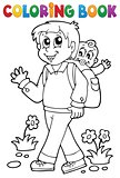 Coloring book father with child 1