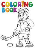 Coloring book hockey theme 1