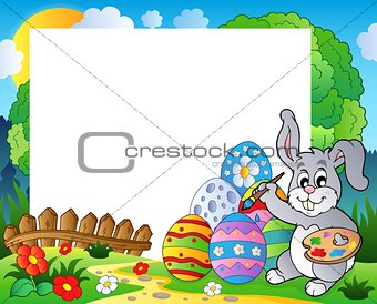 Frame with Easter bunny theme 6