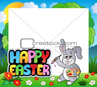 Frame with Easter bunny theme 7