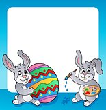 Frame with Easter bunny topic 3