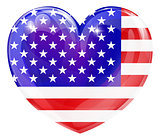 USA flag love heart