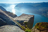 Preikestolen massive cliff top (Norway)