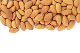 border from almond nuts