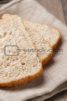 slices of healthy oat bread