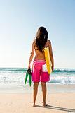 Girl with her bodyboard