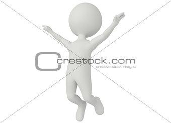 3d humanoid character jumping