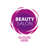 abstract logo of beauty in the form of a ball