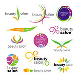 collection of vector logos beauty salons