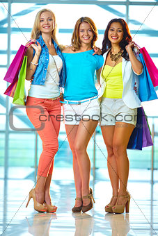 Three shoppers
