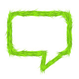 Grass Speech Bubble