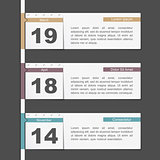 Timeline Design with Calendar Pages