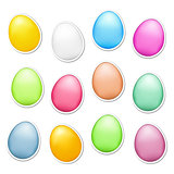 Easter Eggs as Stickers