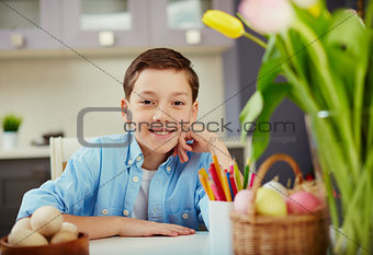 Boy at Easter