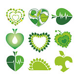 collection of vector logos health and the environment in the for