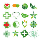 collection of vector logos of Medicine and Pharmacy