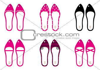 Beautiful lady shoes isolated on white ( pink )