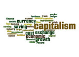 Capitalism word cloud