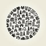 House a circle