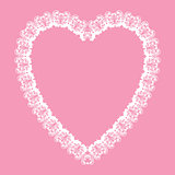 lace-like heart shape frame