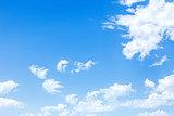 bright blue sky