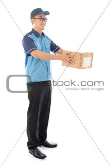 Asian delivery man