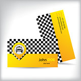 Business card design for taxi companies