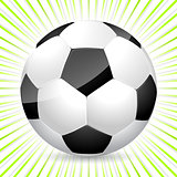 Classic soccer ball with bursting background