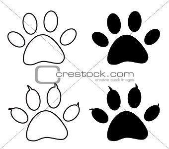 Black paw print
