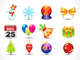 Abstract Christmas icon set