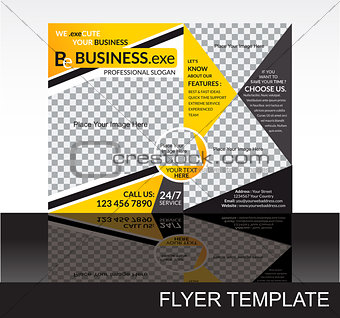 abstract coirporate flyer template