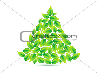 abstract eco based christmas tree