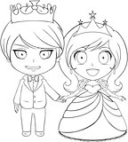 Prince and Princess Coloring Page 1