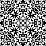 Vector seamless geometric monichrome pattern