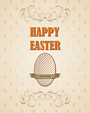Happy Easter retro card