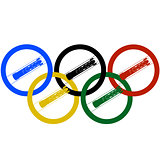Bobsleigh and Olympic rings