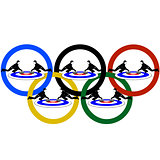 Curling and Olympic rings